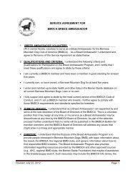 Breed Ambassador Application - Bernese Mountain Dog Club of ...