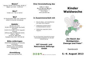 Kinder Waldwoche - kiju-sankt-augustin