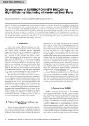 Development of SUMIBORON NEW BNC200 for High-Efficiency ...