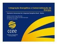 Integração Energética e Comercialização de Energia - Nuca
