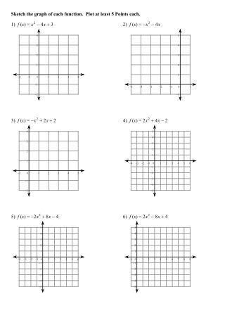 Printables Parabola Worksheet parabola equation match worksheet five pack math worksheets graphing parabolas worksheet
