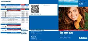 Őszi akció 2012 - Buderus