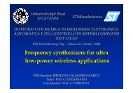 Frequency synthesizers for ultra low-power ... - Phd.dees.unict.it
