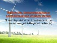 contabilizzazione calore - Certificazione energetica edifici