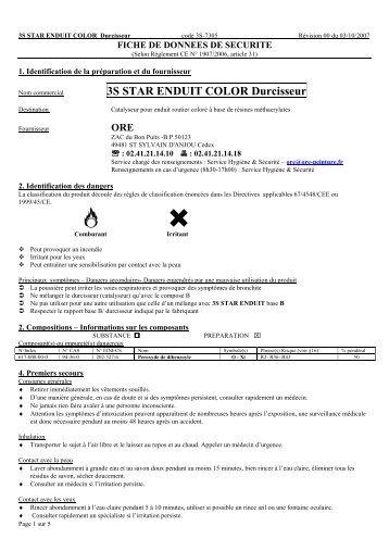 3S STAR ENDUIT COLOR Durcisseur - 3S signalisation produits de ...