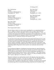 27 February 2013 Hon. John Boehner Hon. Harry Reid Speaker ...
