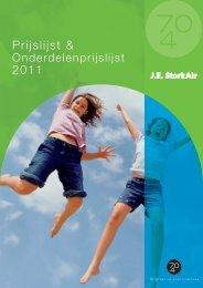 Prijslijst & 2011 - J.E. StorkAir