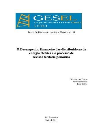 O Desempenho financeiro das distribuidoras de ... - Nuca - UFRJ