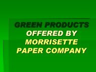 GREEN PRODUCTS OFFERED BY ... - NC Project Green
