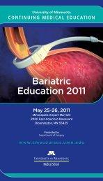 Bariatric Education 2011 - University of Minnesota Continuing ...