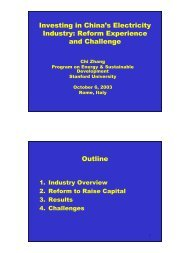 Investing in China's Electricity Industry: Reform Experience and ...