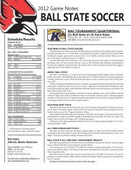 Game Notes - Ball State Athletics