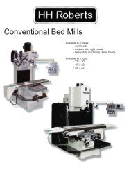 Conventional Bed Mills - HH Roberts Machinery