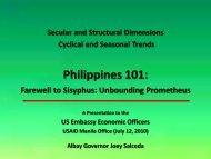 Philippine Political Economy_July 15 2010