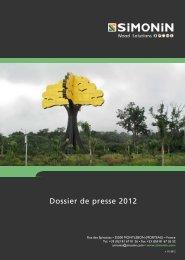 Dossier de presse 2010 - Simonin Bois