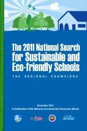 The 2011 National Search for Sustainable and Eco-Friendly Schools
