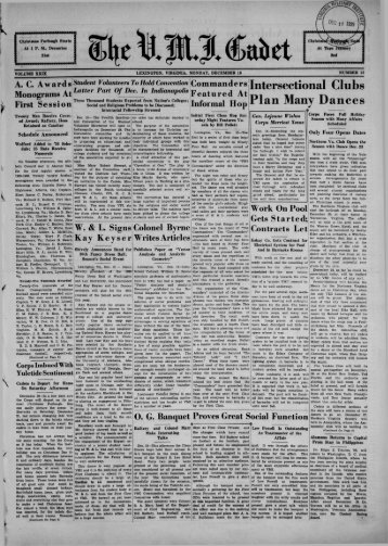The Cadet. VMI Newspaper. December 16, 1935 - New Page 1 ...