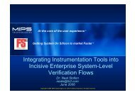 Integrating Instrumentation Tools into Incisive Enterprise System ...