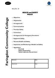 College Health and Safety Policy.pub - Faringdon Community College