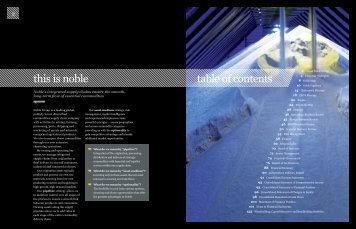 table of contents this is noble - Noble Group