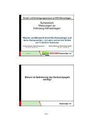 Symposium Messungen an Fahrzeug Klimaanlagen - TWK