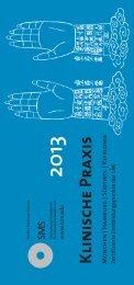 Kursprospekt Klinische Praxis 2013 - SMS Internationale ...