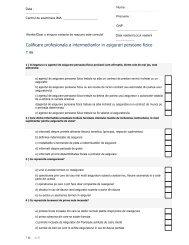 Test 86 - Institutul de Management in Asigurari