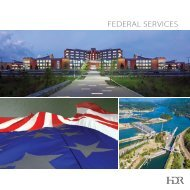 Federal Services Brochure - HDR, Inc.