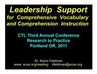 Leadership Support - Center on Teaching and Learning