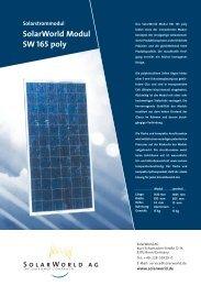 SolarWorld Modul SW 165 poly Solarstrommodul