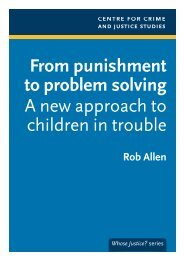 From punishment to problem solving A new approach to children in ...