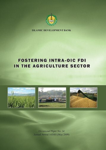 Intra-OIC FDI in Agriculture Sector - Islamic Development Bank
