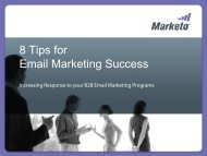 Increasing the Response to your Email Marketing Programs - Marketo