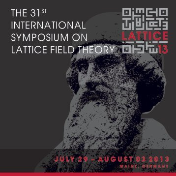 PDF 18 MB - Lattice 2013 - Johannes Gutenberg-Universität Mainz