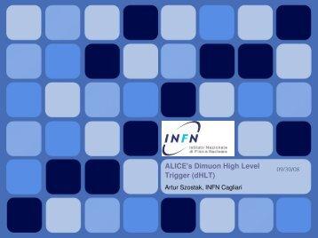 ALICE's Dimuon High Level Trigger (dHLT) - Gruppo 3 - Infn