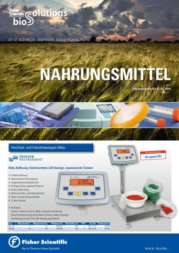 NAHRUNGSMITTEL - Fisher Scientific Deutschland