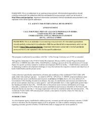 PLEASE NOTE: This is an addendum to an existing ... - usaid