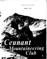 March 1964 - Ceunant Mountaineering Club