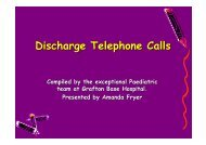 Discharge telephone calls ( pdf - 656 KB) - ARCHI