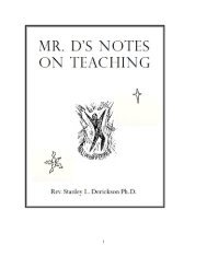 mr. d's notes on teaching - The Dericksons