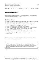 Pressemappe zur Medienkonferenz vom 1.10.2006