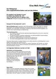 Weltgarten - Eine Welt Netz NRW