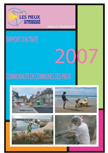 Rapport d'activité des services 2007 - Communauté de communes ...