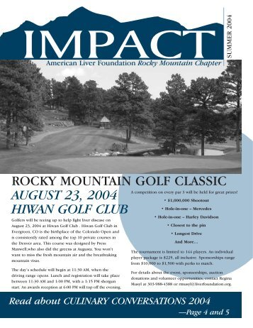 American Liver Foundation Rocky Mountain ... - Blacktie Colorado