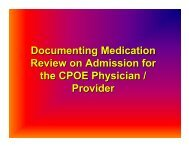 Documenting Medication Review on Admission for ... - Mission Health