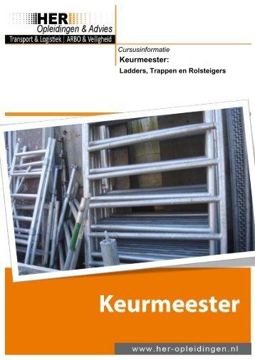 Keurmeester – Ladders, Trappen En Rolsteigers - HER Opleidingen