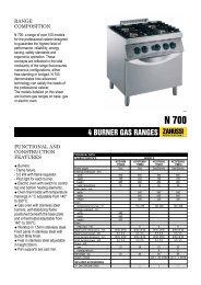 4 BURNER GAS RANGES - Progastro