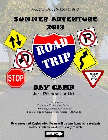 day camp summer adventure 2013 - Souderton Area School District ...