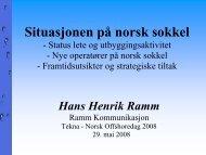 Situasjonen på norsk sokkel