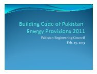 PEC building energy code - Pakistan Engineering Council